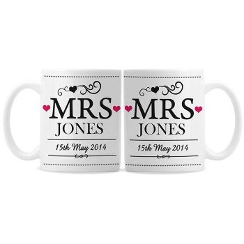 Mrs & Mrs Mugs Set